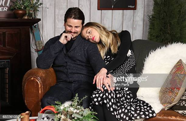 Jason Ritter and Jamie King from the film 'Bitch' attends The Hollywood Reporter 2017 Sundance Studio At Sky Strada Day 1 2017 Park City on January...