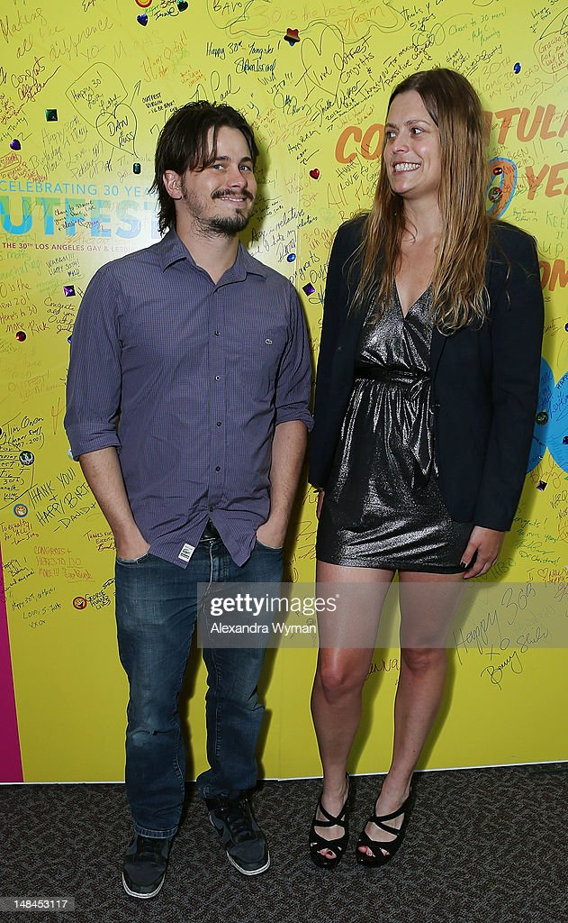 Jason Ritter and Mariana Polka at The Sundance Alumni Event At Outfest Festival held at The DGA Theater on July 16, 2012 in Los Angeles, California.