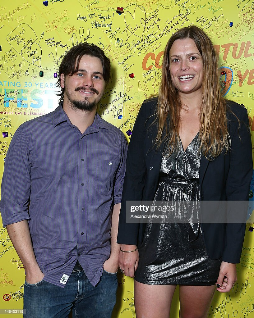 <a gi-track='captionPersonalityLinkClicked' href=/galleries/search?phrase=Jason+Ritter&family=editorial&specificpeople=209201 ng-click='$event.stopPropagation()'>Jason Ritter</a> and Mariana Polka at The Sundance Alumni Event At Outfest Festival held at The DGA Theater on July 16, 2012 in Los Angeles, California.