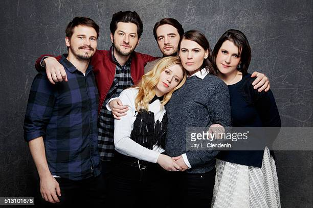 Jason Ritter Vincent Piazza Natasha Lyonne Ben Schwartz Clea DuVall and Melanie Lynskey of 'Intervention' poses for a portrait at the 2016 Sundance...