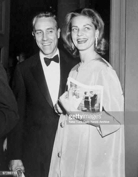 Jason Robards and Lauren Bacall at the Metropolitan Opera House