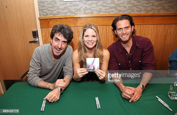 Jason Robert Brown Kelli O'Hara and Steven Pasquale attend 'Bridges Of Madison County' Broadway Cast CD Signing at Barnes Noble 86th Lexington on May...