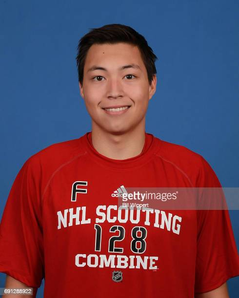 Jason Robertson poses for a headshot at the NHL Combine at HarborCenter on June 1 2017 in Buffalo New York