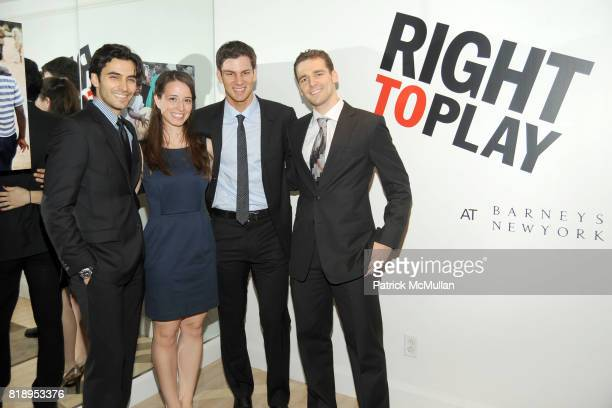 Jason Rogers Daria Schneider Tim Morehouse and Mihail Etropolski attend RIGHT TO PLAY 'En Garde' Charity Cocktail Party at Barneys New York on May 13...