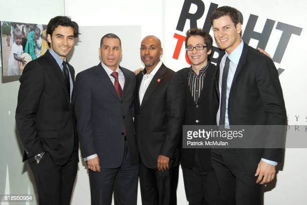Jason Rogers Governor David Paterson Jeffrey Orridge Matt Doyle and Tim Morehouse attend RIGHT TO PLAY 'En Garde' Charity Cocktail Party at Barneys...