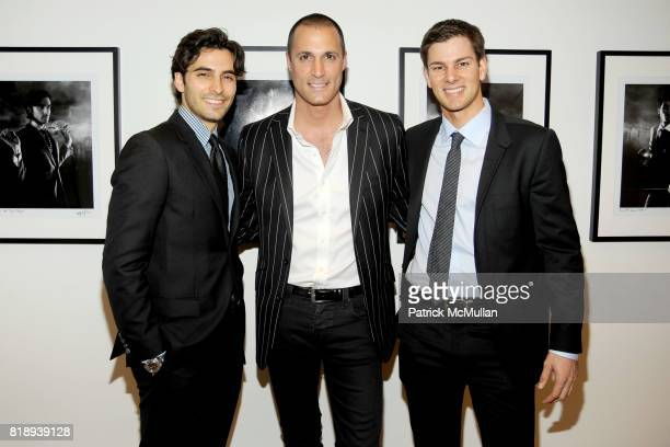 Jason Rogers Nigel Barker and Tim Morehouse attend RIGHT TO PLAY 'En Garde' Charity Cocktail Party at Barneys New York on May 13 2010 in New York City