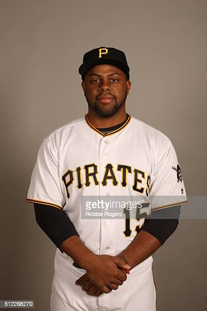Jason Rogers of the Pittsburgh Pirates poses during Photo Day on Thursday February 25 2016 at McKechnie Field in Bradenton Florida
