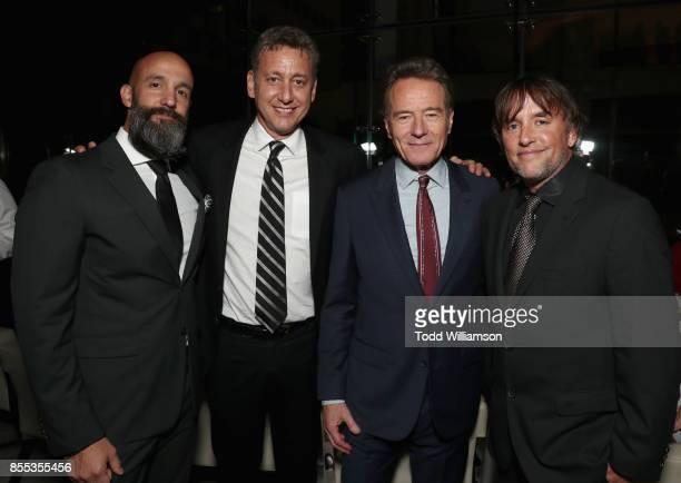 Jason Ropell John Sloss Bryan Cranston and Richard Linklater attend the Last Flag Flying NYFF World Premiere on September 28 2017 at Alice Tully Hall...