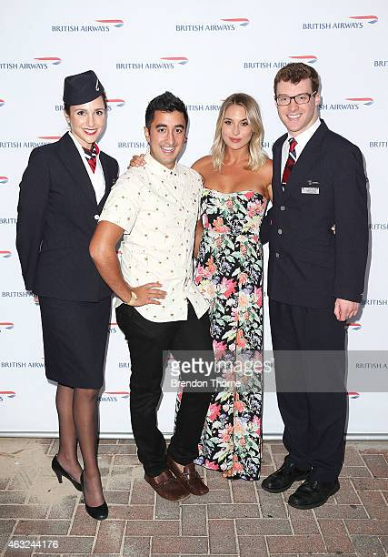 Jason Roses and guest along with British Airways Ambassadors pose ahead of guests enjoying exclusive first bite of the new British Airways premium...