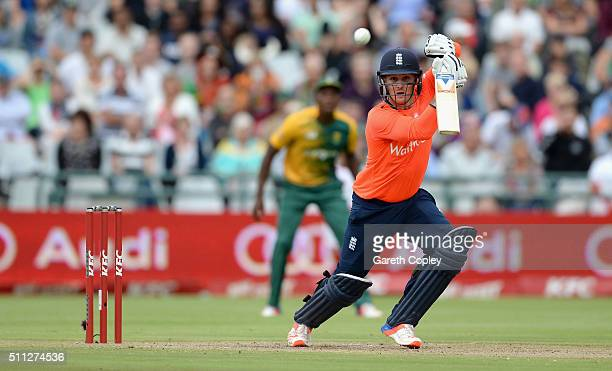 Jason Roy of England bats during the 1st KFC T20 International match between South Africa and England at Newlands on February 19 2016 in Cape Town...