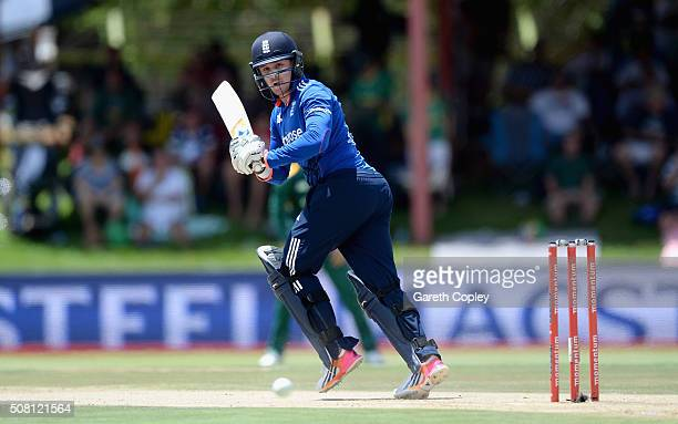 Jason Roy of England bats during the 1st Momentum ODI match between South Africa and England at Mangaung Oval on February 3 2016 in Bloemfontein...