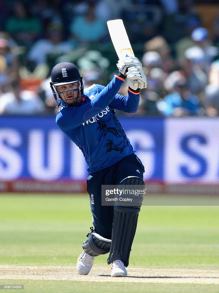 <a gi-track='captionPersonalityLinkClicked' href=/galleries/search?phrase=Jason+Roy+-+Cricket+Player&family=editorial&specificpeople=13892033 ng-click='$event.stopPropagation()'>Jason Roy</a> of England bats during the 2nd Momentum ODI between South Africa and England at St George's Park on February 6, 2016 in Port Elizabeth, South Africa.