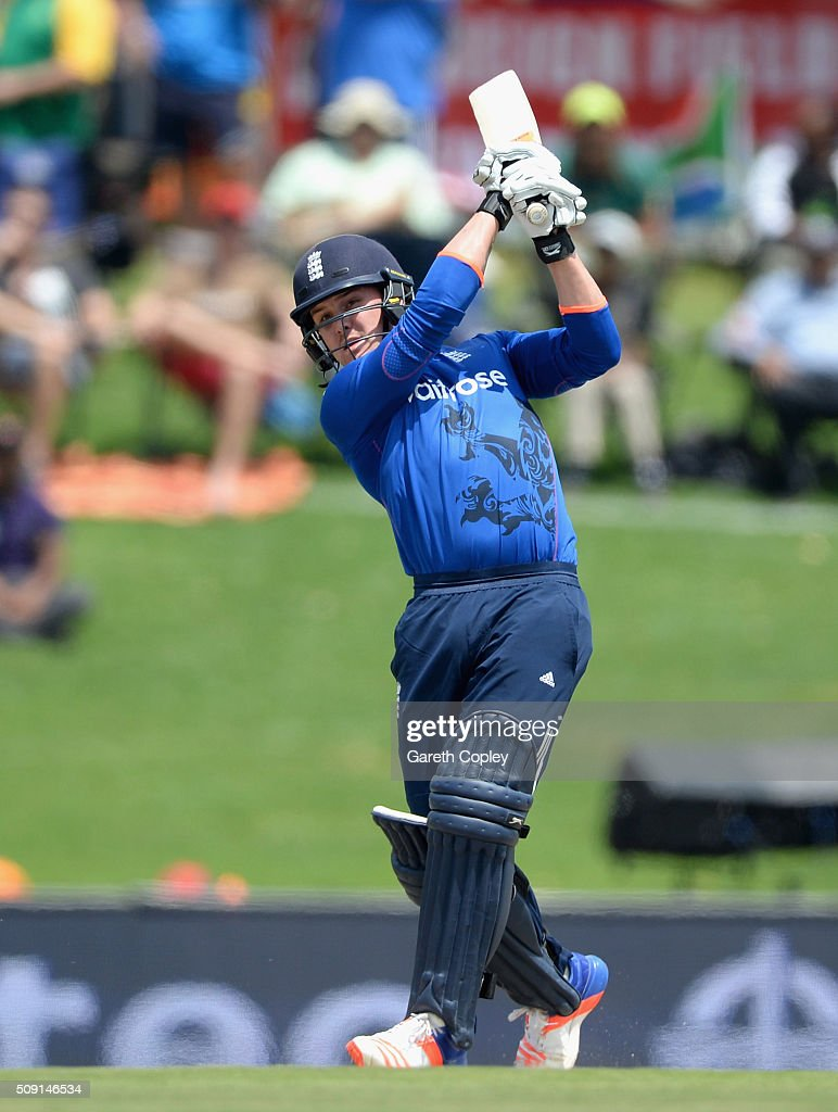 <a gi-track='captionPersonalityLinkClicked' href=/galleries/search?phrase=Jason+Roy+-+Cricket+Player&family=editorial&specificpeople=13892033 ng-click='$event.stopPropagation()'>Jason Roy</a> of England bats during the 3rd Momentum ODI match between South Africa and England at Supersport Park on February 9, 2016 in Centurion, South Africa.