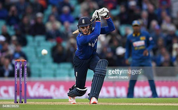 Jason Roy of England bats during the 4th ODI Royal London One Day International match between England and Sri Lanka at The Kia Oval on June 29 2016...