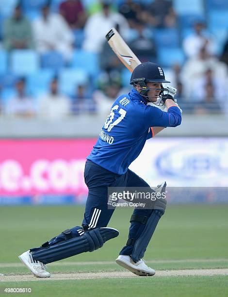 Jason Roy of England bats during the 4th One Day International between Pakistan and England at Dubai Cricket Stadium on November 20 2015 in Dubai...