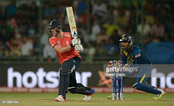 Jason Roy of England bats during the ICC World Twenty20 India 2016 Group 1 match between England and Sri Lanka at Feroz Shah Kotla Ground on March 26...