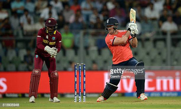 Jason Roy of England bats during the ICC World Twenty20 India 2016 Super 10s Group 1 match between West Indies and England at Wankhede Stadium on...