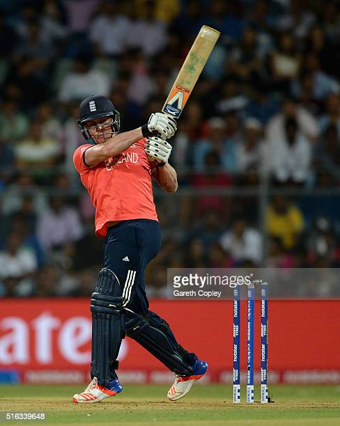 Jason Roy of England bats during the ICC World Twenty20 India 2016 Super 10s Group 1 match between South Africa and England at Wankhede Stadium on...