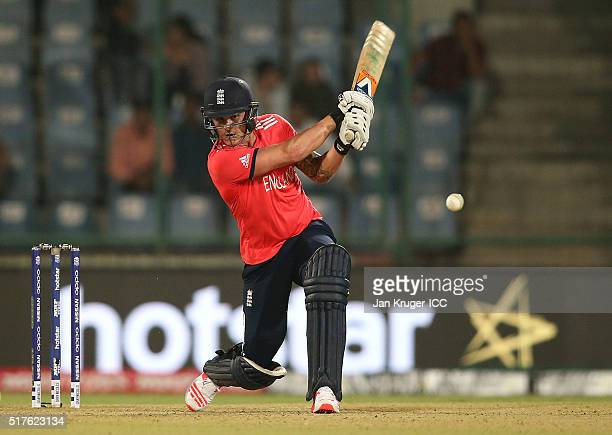 Jason Roy of England bats during the ICC World Twenty20 India 2016 Super 10s Group 1 match between England and Sri Lanka at The Feroz Shah Kotla...