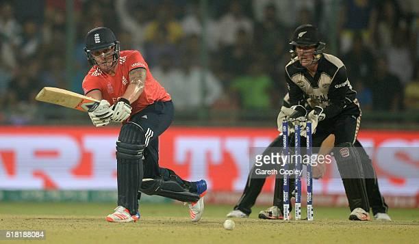 Jason Roy of England bats during the ICC World Twenty20 India 2016 Semi Final match between England and New Zealand at Feroz Shah Kotla Ground on...
