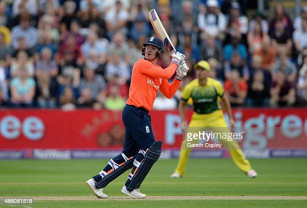 Jason Roy of England bats during the NatWest T20 International match between England and Australia at SWALEC Stadium on August 31 2015 in Cardiff...