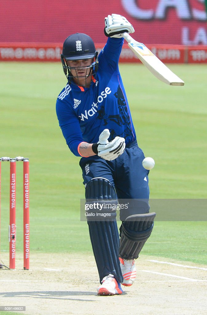 <a gi-track='captionPersonalityLinkClicked' href=/galleries/search?phrase=Jason+Roy+-+Cricket+Player&family=editorial&specificpeople=13892033 ng-click='$event.stopPropagation()'>Jason Roy</a> of England during the 3rd Momentum ODI Series match between South Africa and England at SuperSport Park on February 09, 2016 in Pretoria, South Africa.