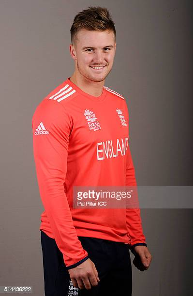 Jason Roy of England poses during the official photocall for the ICC Twenty20 World on March 9 2016 in Mumbai India
