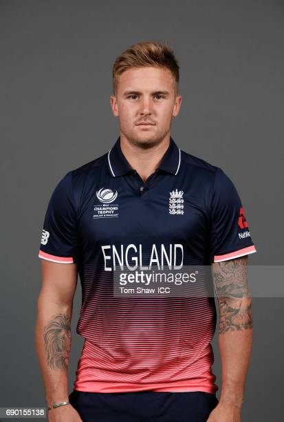 Jason Roy of England poses for a portrait during the England Portrait session for the ICC Champions Trophy at Grange City on May 30 2017 in London...