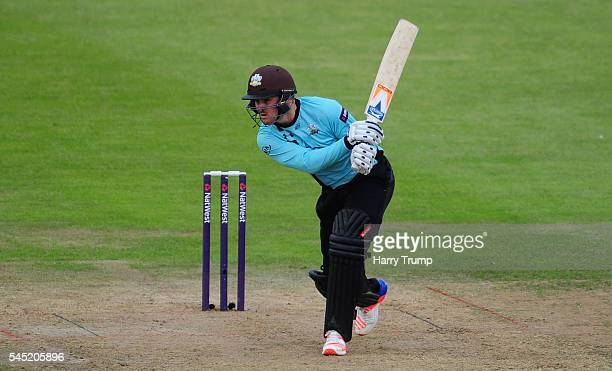 Jason Roy of Surrey bats during the Natwest T20 Blast match between Gloucestershire and Surrey at The Brightside Ground on July 6 2016 in Bristol...