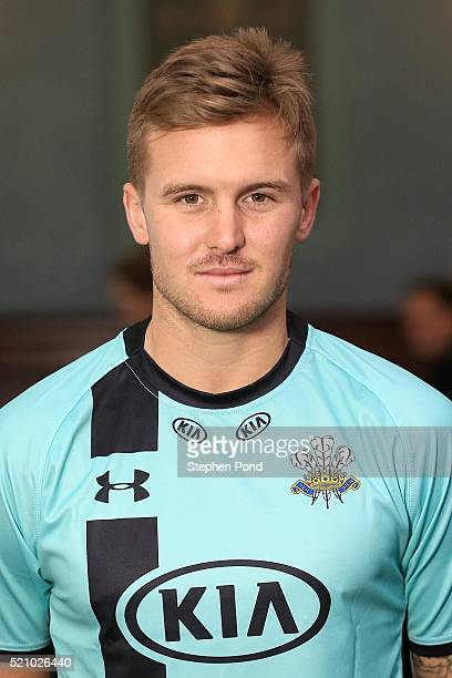 Jason Roy of Surrey during the Surrey County Cricket Club media day at The Kia Oval on April 6 2016 in London England