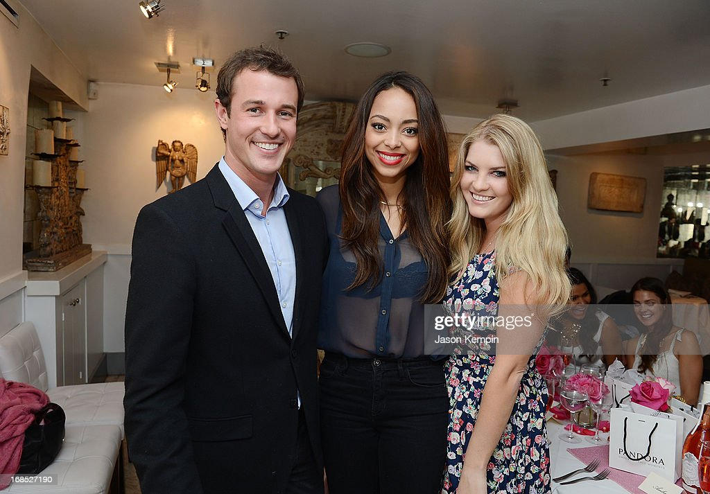 Jason Sabo, Amber Stevens and Pandora Vanderpump attend the PANDORA jewelry Mothers Day celebration with the Vanderpumps on May 6, 2013 in Beverly Hills, California.