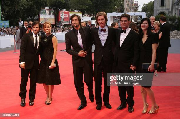 Jason Schwartzman and guest Adrien Brody director Wes Anderson Roman Coppola and guest and Bill Murray arrive for the premiere of the film 'The...