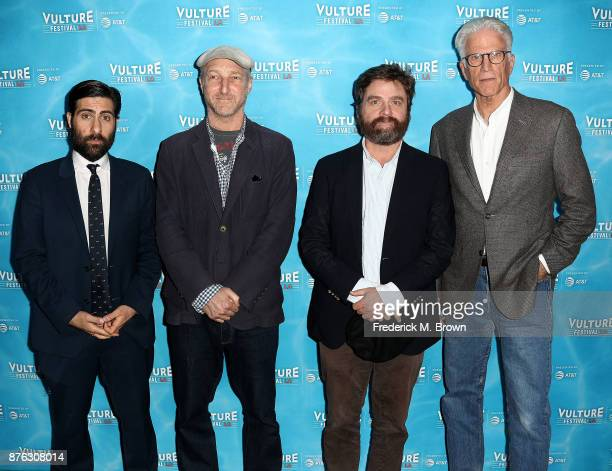Jason Schwartzman Jonathan Ames Zach Galifianakis and Ted Danson attend the Vulture Festival Los Angeles at the Hollywood Roosevelt Hotel on November...