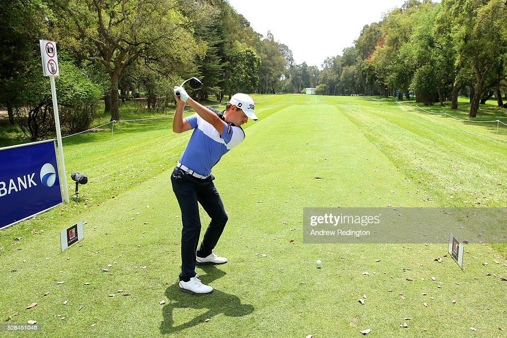 Jason Scrivener of Australia hits his tee shot on the 18th during the first round of the Trophee Hassan II at Royal Golf Dar Es Salam on May 5, 2016 in Rabat, Morocco.