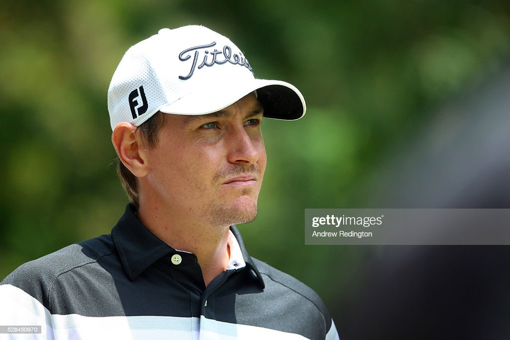 Jason Scrivener of Australia looks on from the 18th during the first round of the Trophee Hassan II at Royal Golf Dar Es Salam on May 5, 2016 in Rabat, Morocco.