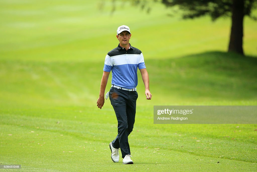 Jason Scrivener of Australia walks along the fairway of the 16th during the first round of the Trophee Hassan II at Royal Golf Dar Es Salam on May 5, 2016 in Rabat, Morocco.