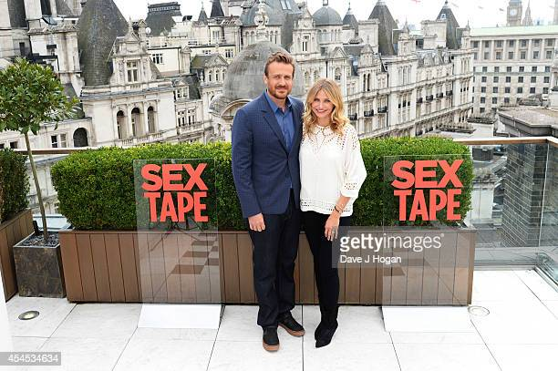 Jason Segal and Cameron Diaz attend a photocall for 'Sex Tape' at The Corinthia Hotel on September 3 2014 in London England