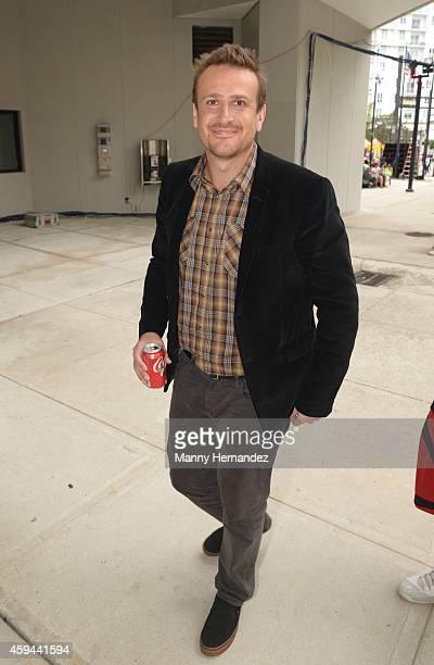 Jason Segal attends the Miami International Book Fair at Miami Dade College on November 21 2014 in Miami Florida