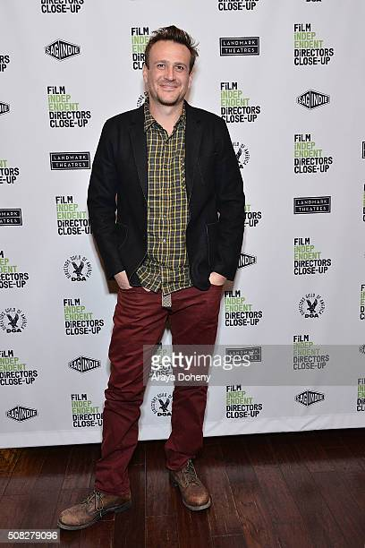 Jason Segel attends the Film Independent Director Close Up James Ponsoldt And Jason Segel at Landmark Theatre on February 3 2016 in Los Angeles...