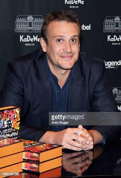 Jason Segel attends the presentation of his book 'Nightmares' at Hugendubel KaDeWe on November 17 2014 in Berlin Germany