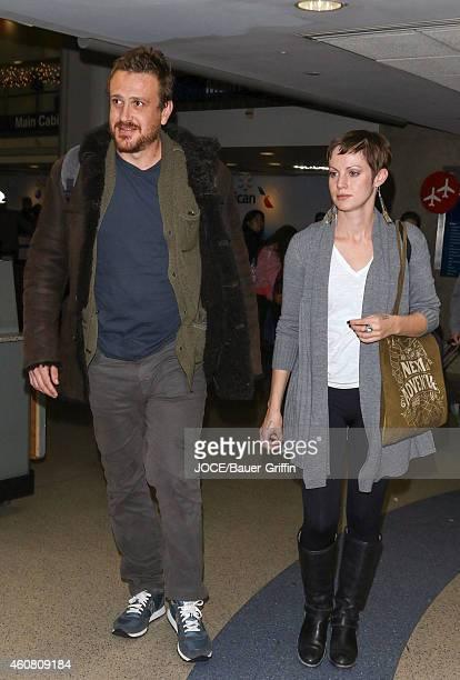 Jason Segel is seen at LAX on December 23 2014 in Los Angeles California
