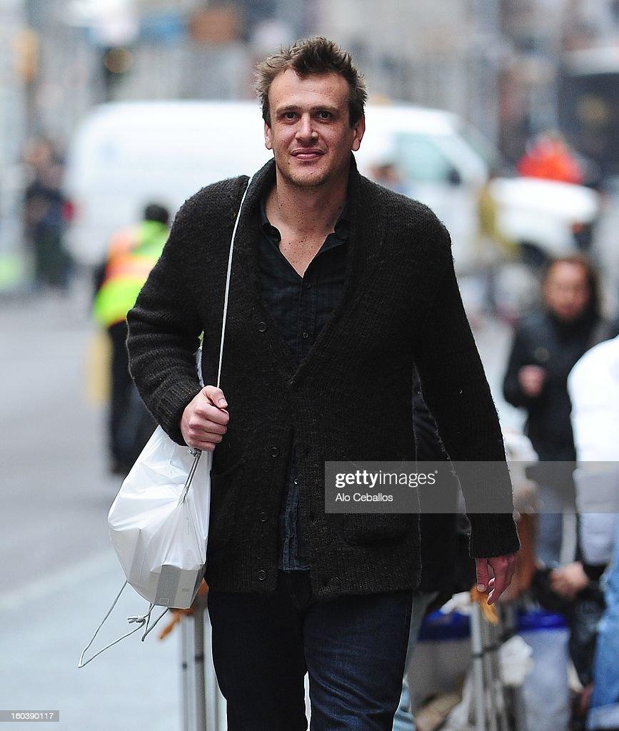 Jason Segel is seen in Soho on January 30, 2013 in New York City.