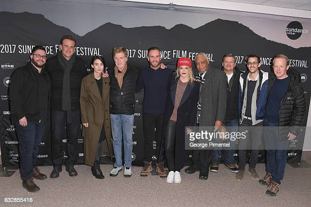 Jason Segel Rooney Mara Robert Redford Charlie McDowell Riley Keough and Ron Canada attends the 'The Discovery' premiere during day 2 of the 2017...
