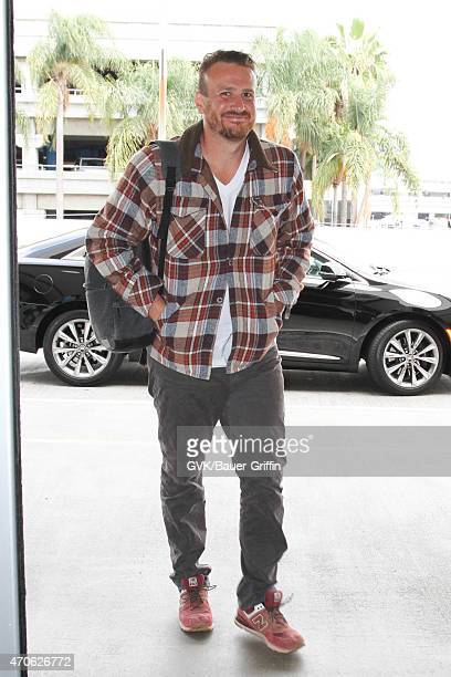 Jason Segel seen at LAX on April 21 2015 in Los Angeles California
