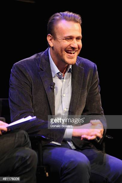 Jason Segel talks with Michael Schulman during The New Yorker Festival 2015 at SVA Theater on October 3 2015 in New York City