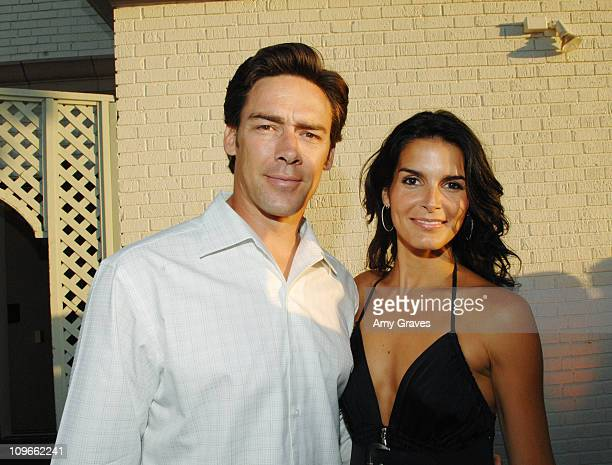 Jason Sehorn and Angie Harmon attend the Producers and Stars Toast Party Hosted by Dana Walden and Gary Newman on July 18 2007 in Beverly Hills...