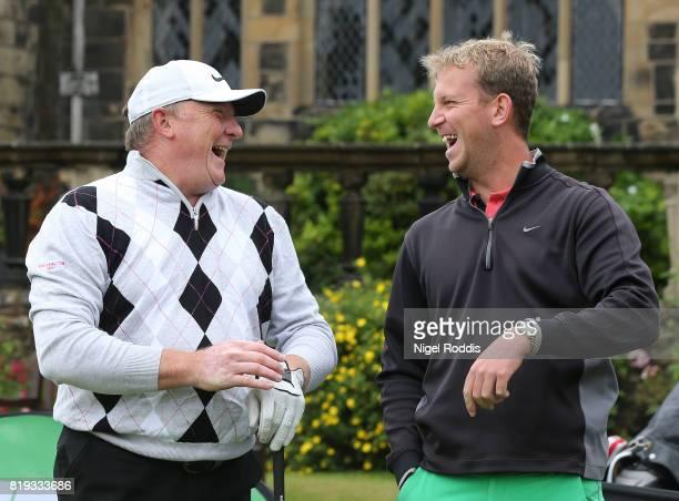 Jason Shufflebotham of Denbigh Golf Club and Richard Stockdale of Dolgellau Golf Club during the Golfbreakscom PGA Fourball Championship North...