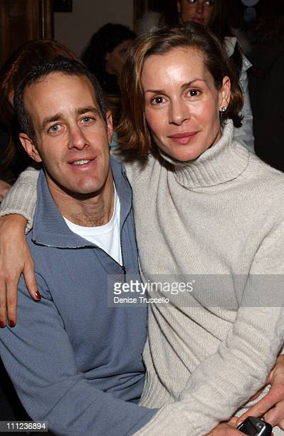 Jason Sloane and Embeth Davidtz during 2005 Park City 'Junebug' Cocktail Party at Levi's Ranch in Park City Utah United States