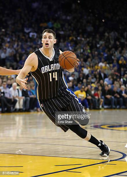 Jason Smith of the Orlando Magic in action against the Golden State Warriors at ORACLE Arena on March 7 2016 in Oakland California NOTE TO USER User...