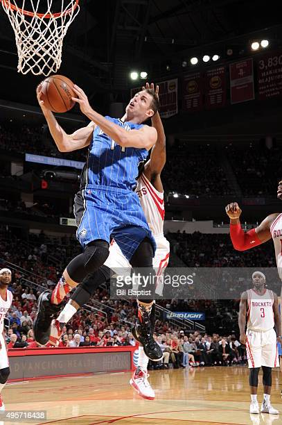 Jason Smith of the Orlando Magic shoots the ball against the Houston Rockets on November 4 2015 at the Toyota Center in Houston Texas NOTE TO USER...